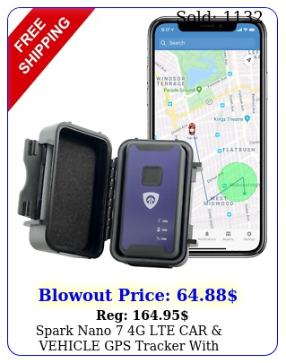 spark nano g lte car vehicle gps tracker with magnetic water resistant cas