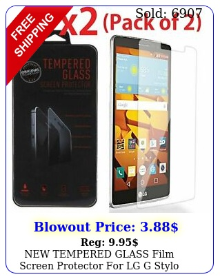 tempered glass film screen protector lg g stylo l