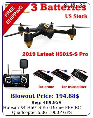 hubsan x hs pro drone fpv rc quadcopter g p gps brusheless rt
