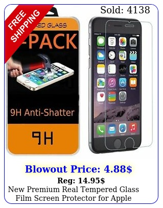 premium real tempered glass film screen protector apple iphone