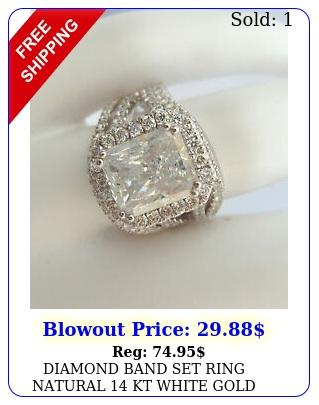 diamond band set ring natural kt white gold ladies vs d carat flawles
