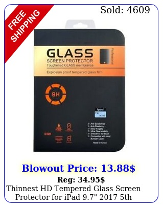 thinnest hd tempered glass screen protector ipad  th generatio