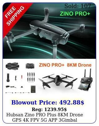 hubsan zino pro plus km drone gps k fpv g app gimbal foldable quadcopter u