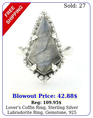 lover's coffin ring sterling silver labradorite ring gemstone silve