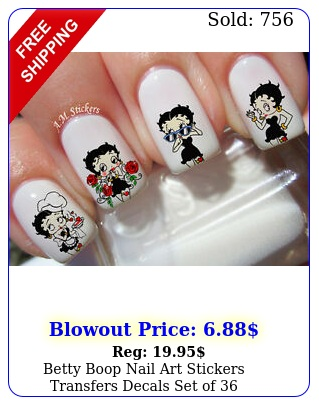 betty boop nail art stickers transfers decals set o