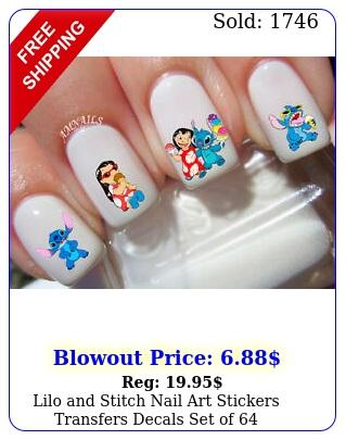 lilo stitch nail art stickers transfers decals set o