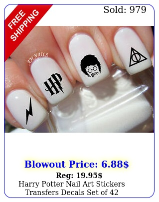 harry potter nail art stickers transfers decals set o