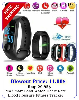 m smart band watch heart rate blood pressure fitness tracker health monito