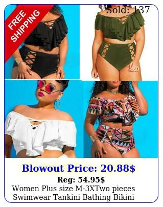 women plus size mxtwo pieces swimwear tankini bathing bikini beauty beach sui