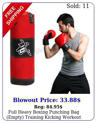 full heavy boxing punching bag empty training kicking workout gym sandba