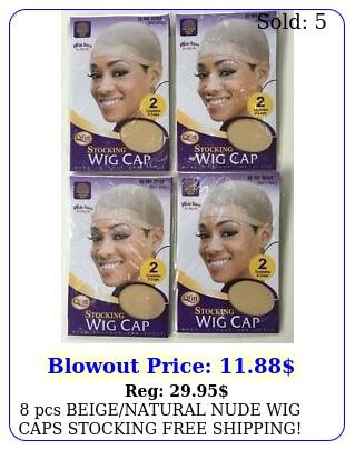 pcs beigenatural nude wig caps stocking free shipping qfitt brand pack