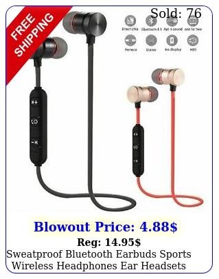 sweatproof bluetooth earbuds sports wireless headphones ear headsets earphone