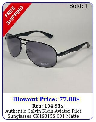 authentic calvin klein aviator pilot sunglasses cks matte black gra