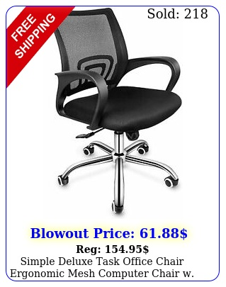 simple deluxe task office chair ergonomic mesh computer chair w wheels arm