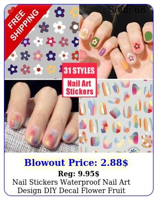 nail stickers waterproof nail art design diy decal flower fruit starter easy us