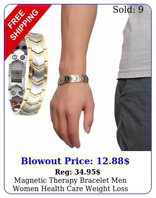 magnetic therapy bracelet men women health care weight loss arthritis jewelr