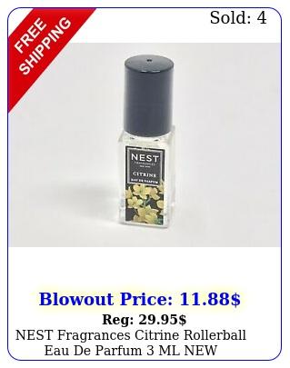 nest fragrances citrine rollerball eau de parfum m