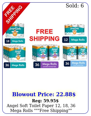 angel soft toilet paper  mega rolls free shippin