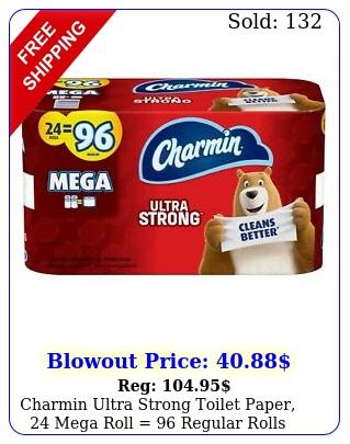 charmin ultra strong toilet paper mega roll  regular roll