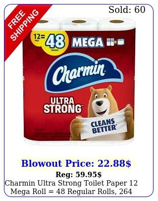 charmin ultra strong toilet paper mega roll  regular rolls sheet