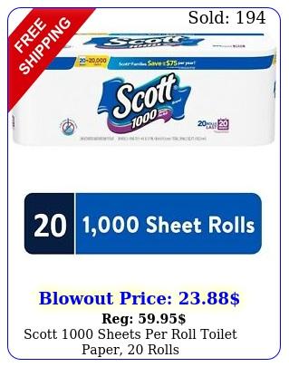 scott sheets roll toilet paper roll
