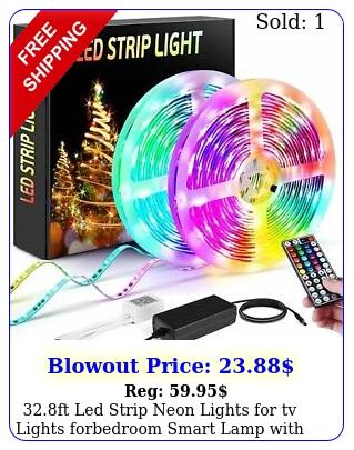 ft led strip neon lights tv lights forbedroom smart lamp with remot