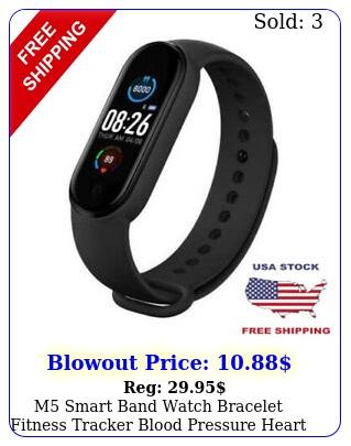 m smart band watch bracelet fitness tracker blood pressure heart rate ip us
