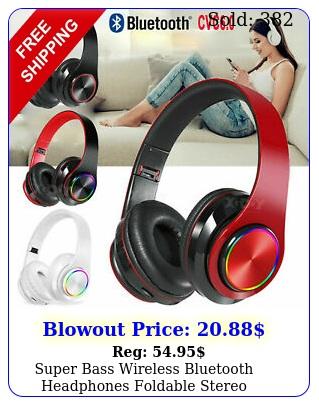 super bass wireless bluetooth headphones foldable stereo earphones headsets mi