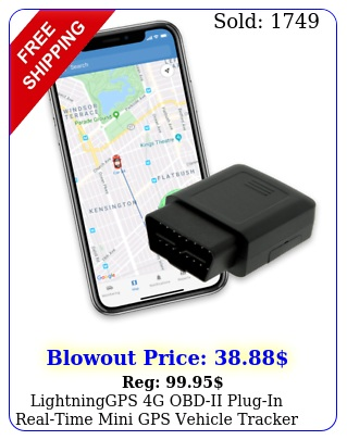 lightninggps g obdii plugin realtime mini gps vehicle tracker cars teen