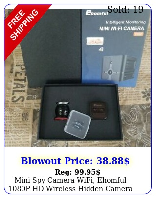 mini spy camera wifi ehomful p hd wireless hidden camera live streaming wi