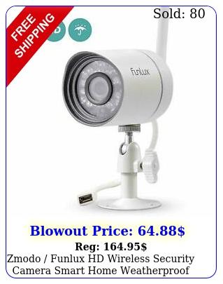 zmodo funlux hd wireless security camera smart home weatherproof zpibt