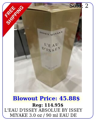 l'eau d'issey absolue by issey miyake oz  ml eau de parfum women seale
