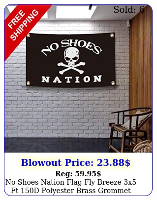no shoes nation flag fly breeze x ft d polyester brass grommet hd printin