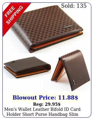 men's wallet leather bifold id card holder short purse handbag slim clutch u