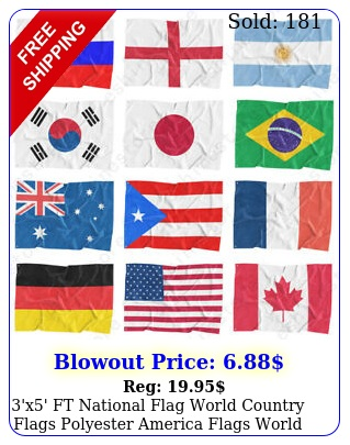 'x' ft national flag world country flags polyester america flags world cu