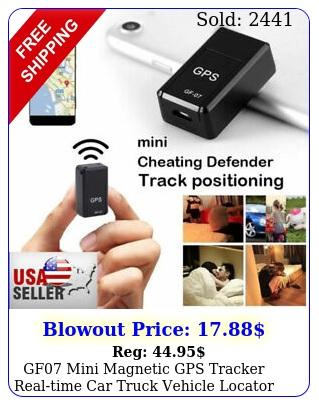 gf mini magnetic gps tracker realtime car truck vehicle locator gsm gpr