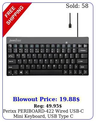 perixx periboard wired usbc mini keyboard usb type c connector blac
