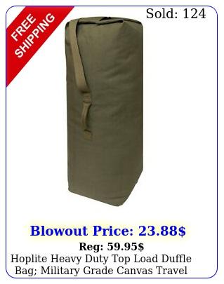 hoplite heavy duty top load duffle bag military grade canvas travel duffel ba