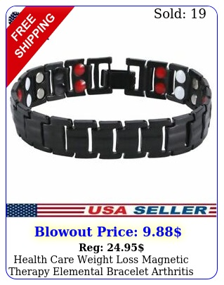 health care weight loss magnetic therapy elemental bracelet arthritis pain reli