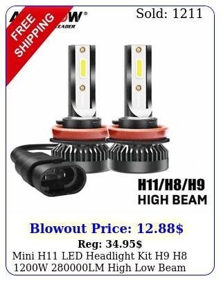 mini h led headlight kit h h w lm high low beam bulb hid fog ligh