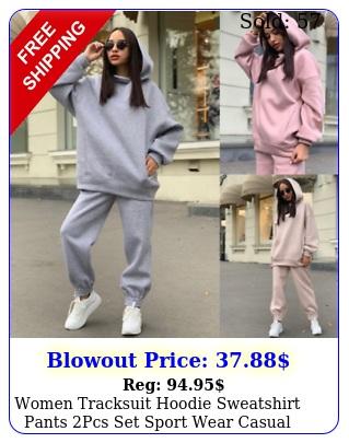 women tracksuit hoodie sweatshirt pants pcs set sport wear casual sweat suit u
