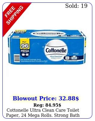 cottonelle ultra clean care toilet paper mega rolls strong bath tissu
