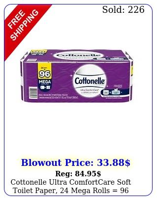 cottonelle ultra comfortcare soft toilet paper mega rolls  regular roll
