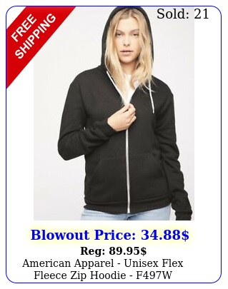 american apparel unisex flex fleece zip hoodie f