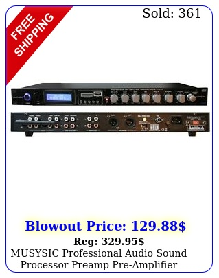 musysic professional audio sound processor preamp preamplifier usbsdbluetoot