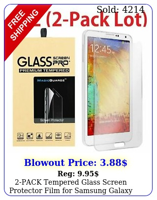 pack tempered glass screen protector film samsung galaxy not
