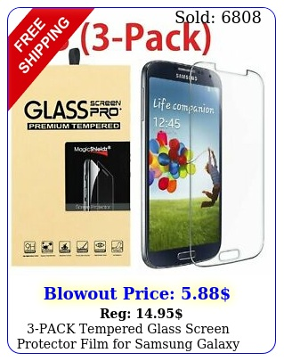pack tempered glass screen protector film samsung galaxy