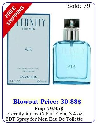 eternity air by calvin klein oz edt spray men eau de toilett