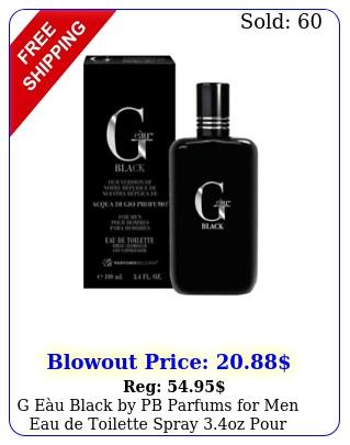 g eu black by pb parfums men eau de toilette spray oz pour hommes acqu
