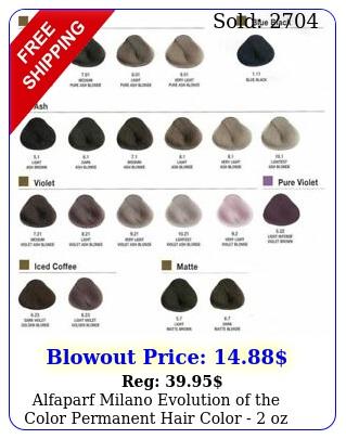 alfaparf milano evolution of the color permanent hair color  o